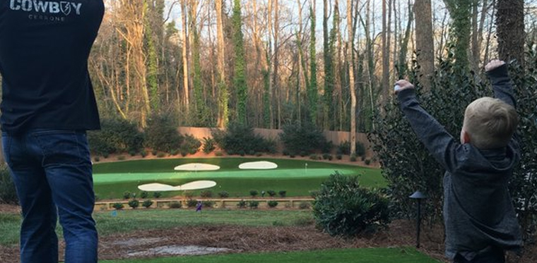 Image result for images of   The 12th hole at Augusta